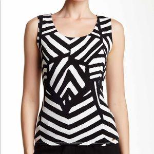 Calvin Klein Zebra Jersey Tank size L